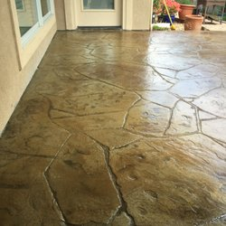 Photo Of Atx Stained Concrete Austin Tx United States Dark Stain On