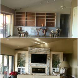 Photo Of Luniela Interior Design   Phoenix, AZ, United States. Stack Stone  Fireplace