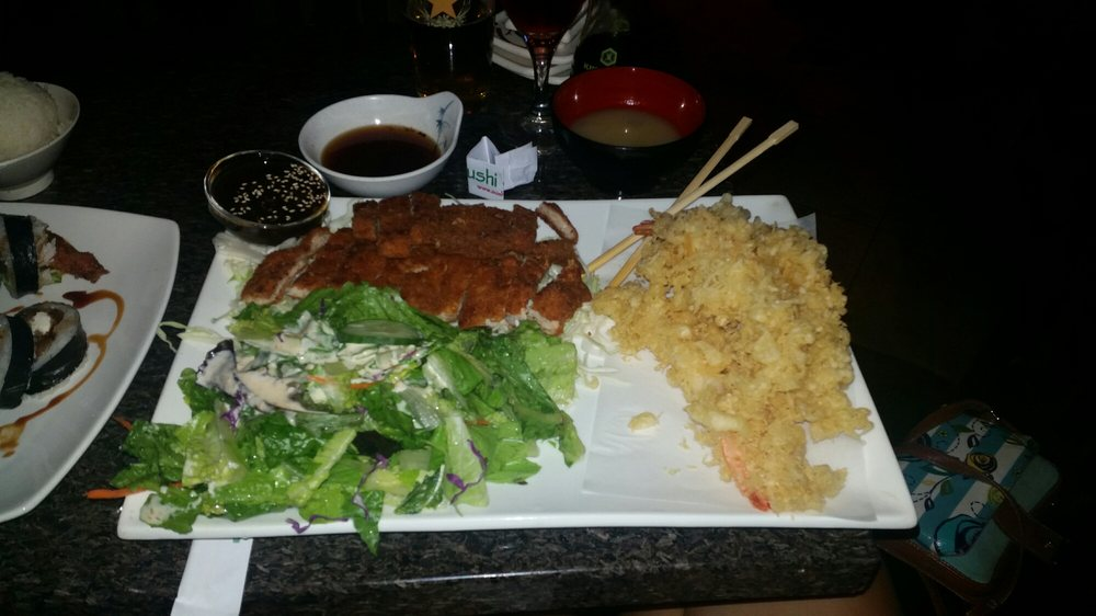 Combination dinner, Tom catsu and shrimp tempura. This is huge! - Yelp