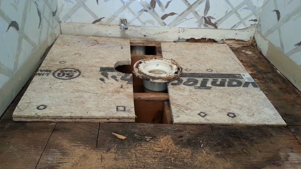 how to fix bathroom floor repair for a rotted subfloor a toilet yelp 23415