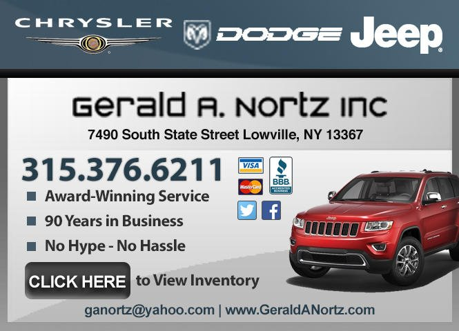 Gerald A Nortz: 7490 S State St, Lowville, NY