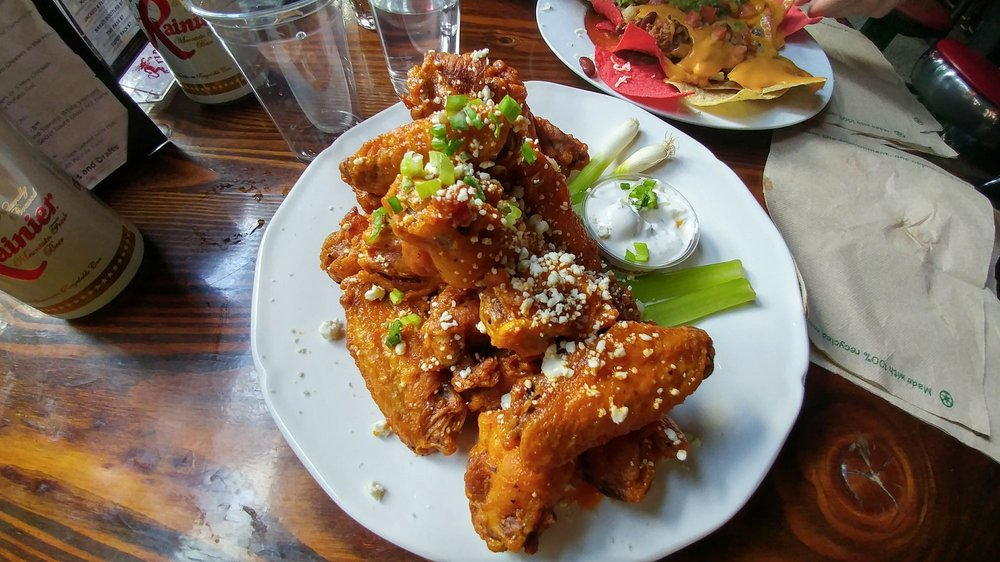 Photo of Sam's Tavern - Seattle, WA, United States. 50 cent wings. Hit the spot.