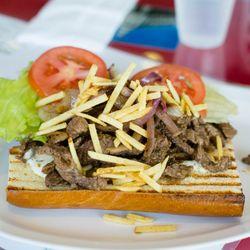 Photo Of Cuban Kitchen   San Mateo, CA, United States. Bistec Sandwich