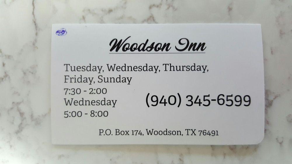 Woodson Inn: 121 US Highway 183 N, Woodson, TX