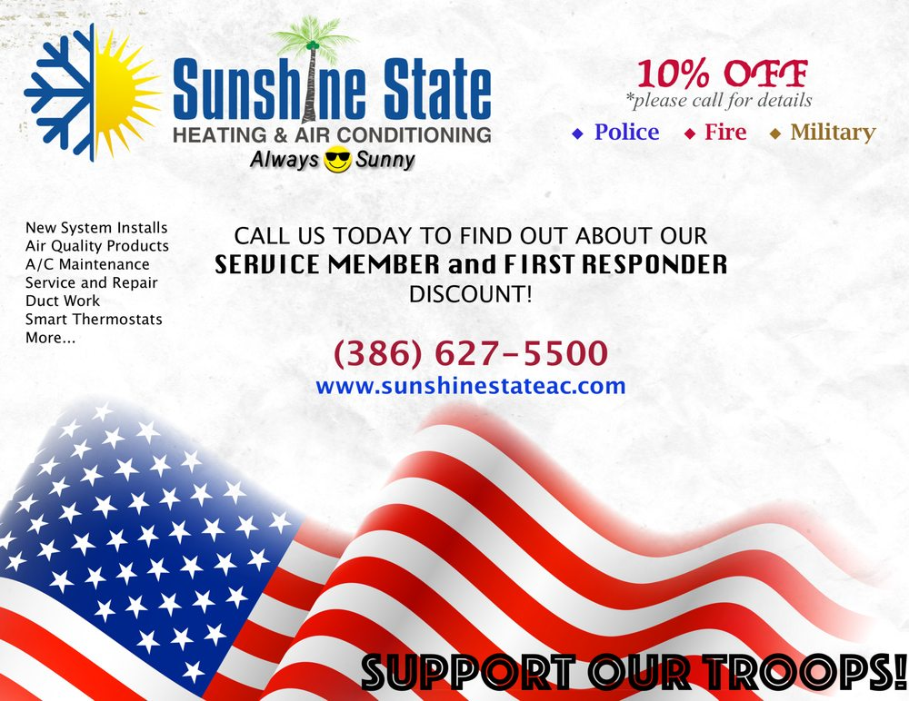 Sunshine State Heating and Air Conditioning: 2323 N State St, Bunnell, FL