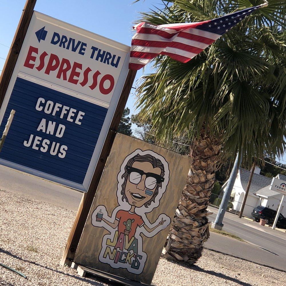 Java Nick's Coffee Hut: 603 W Pierce St, Carlsbad, NM