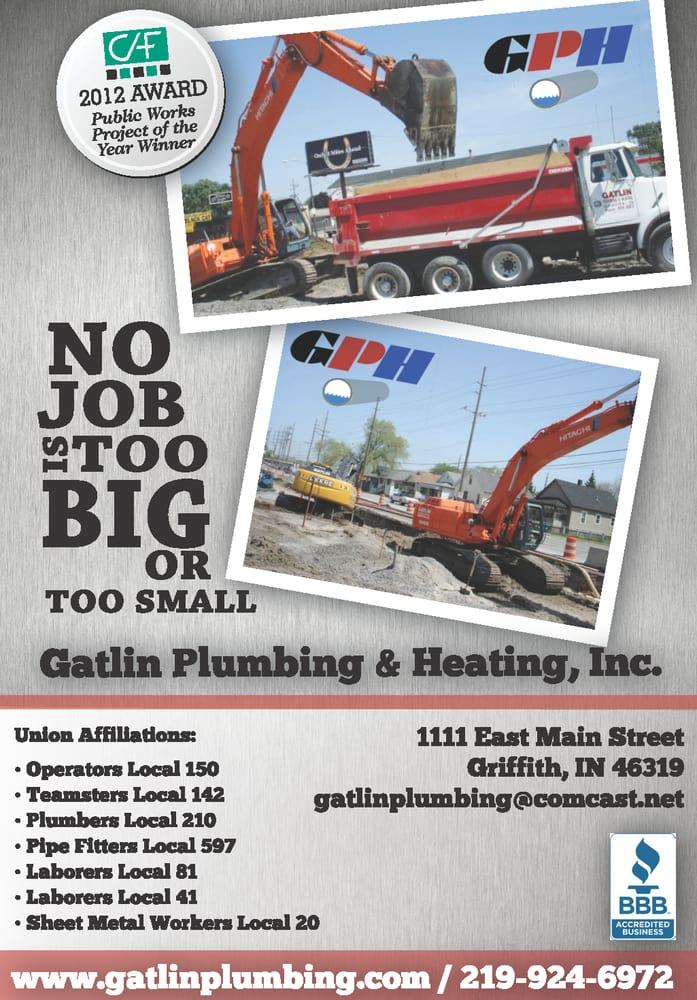 Gatlin Plumbing & Heating: 1111 E Main St, Griffith, IN