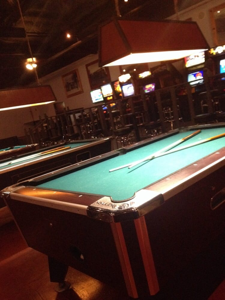 Pool Tables And A Row Of Old School Arcade Games Yelp - Old school pool table