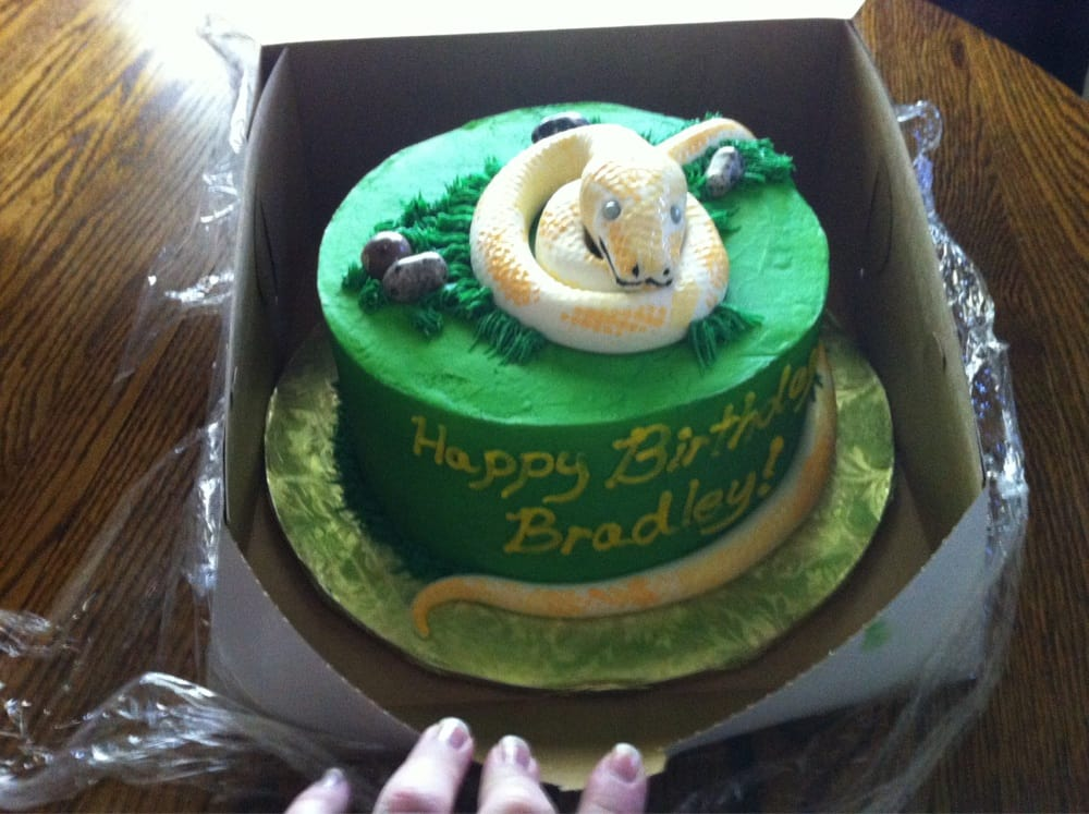 Awesome Snake Birthday Cake For My Sons Th Birthday Yelp - Snake birthday cake