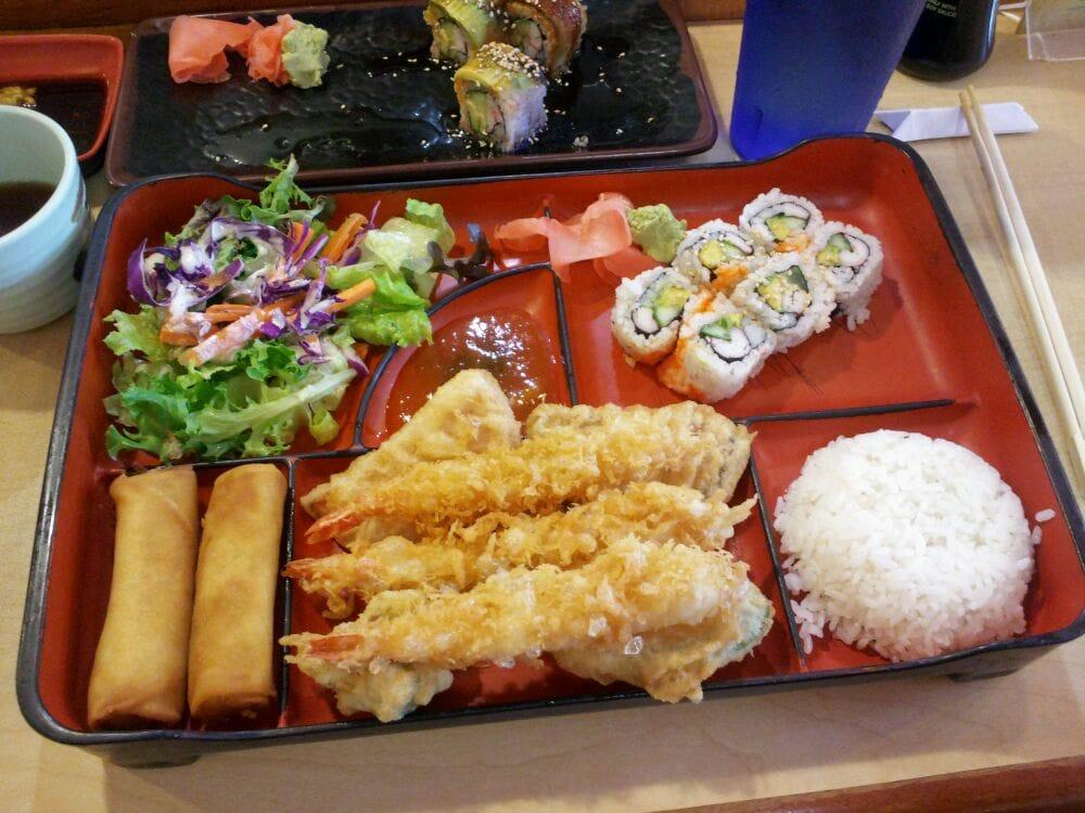 bento lunch box with shrimp tempura yelp. Black Bedroom Furniture Sets. Home Design Ideas