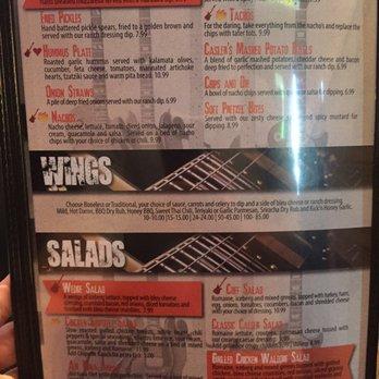 Casler S Kitchen And Bar Menu