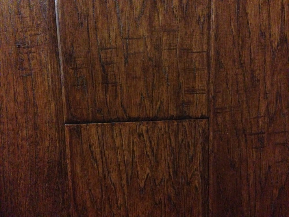 Tecsun hickory saddle back hardwood floor for Hardwood flooring outlet