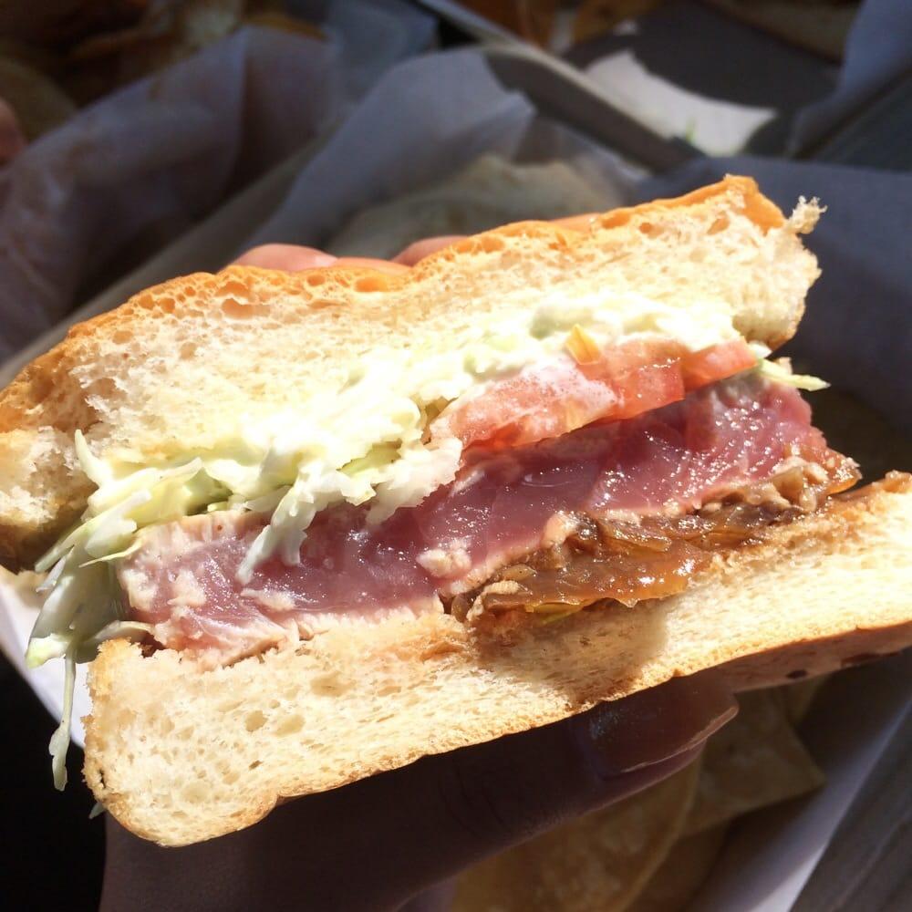 Seared ahi sandwich yelp for Fish market maui