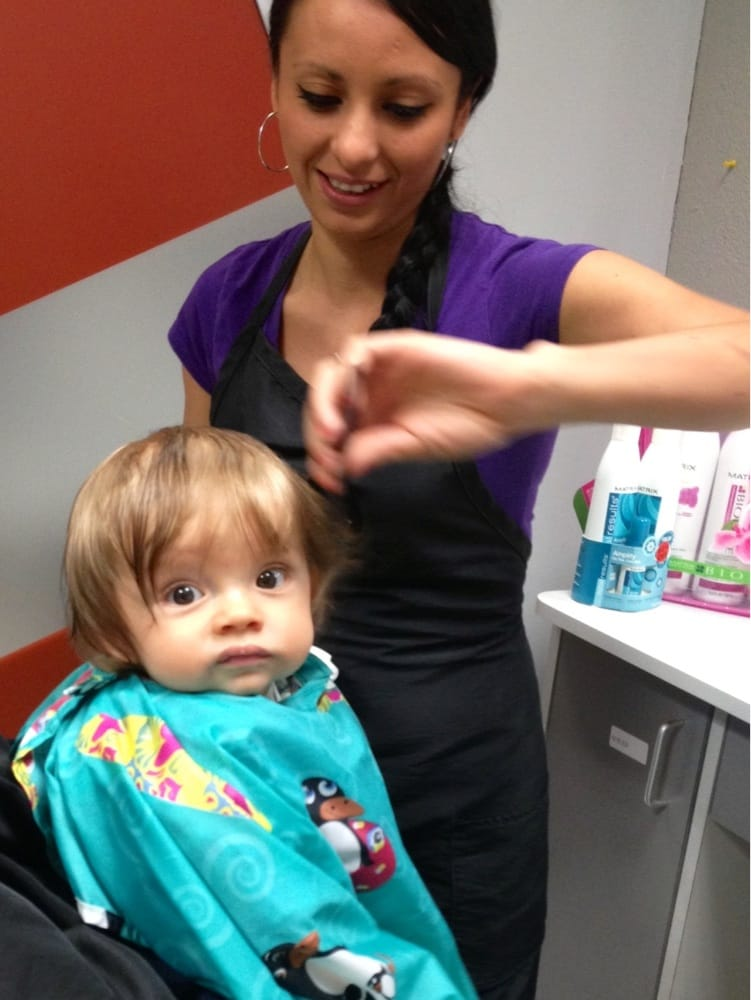 My 6 Month Olds First Haircut Maria Did A Great Job Quickly And