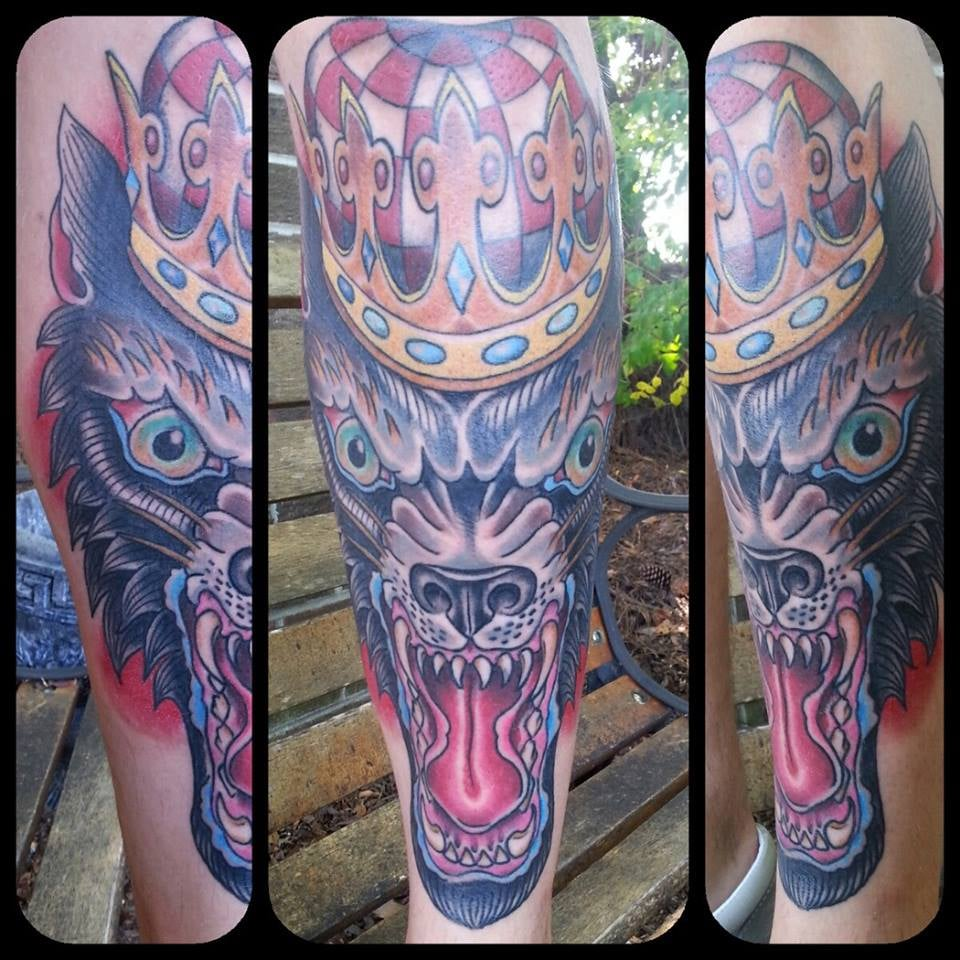 Wolf king tattoo by dennis yelp for Iron lotus tattoo