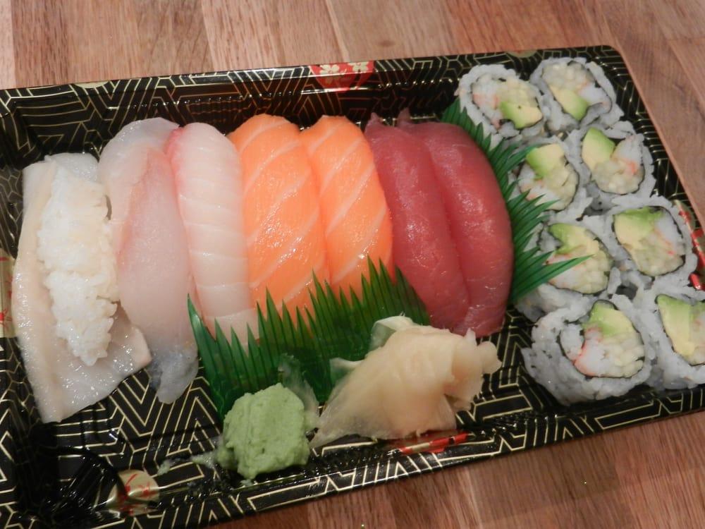 Sushi Entree: White Tuna, Yellowtail, Striped Bass, Salmon ...