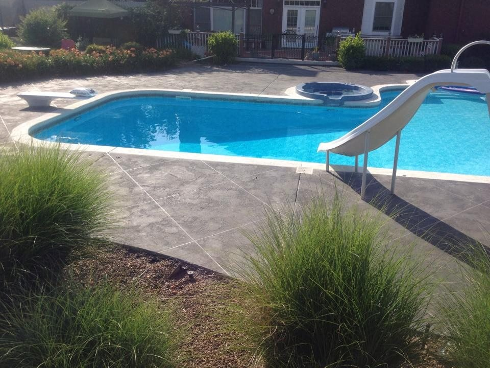 Pool deck driveway patio resurfacing yelp for Pool design regrets