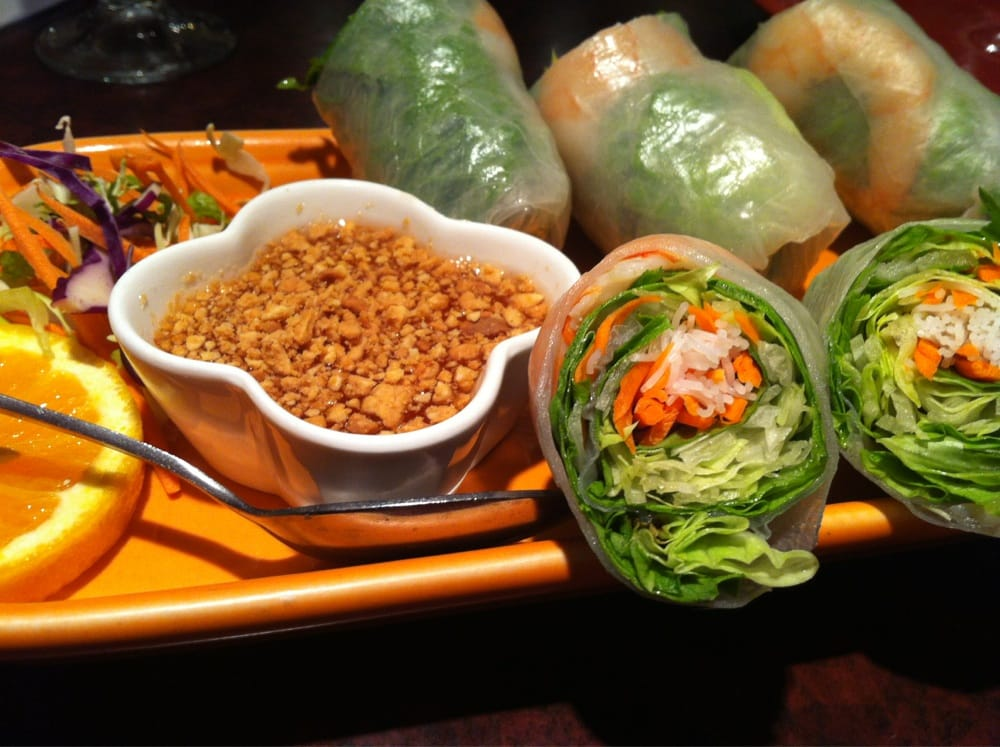 Fresh salad rolls with plum sauce yelp for Ayothaya thai cuisine puyallup wa