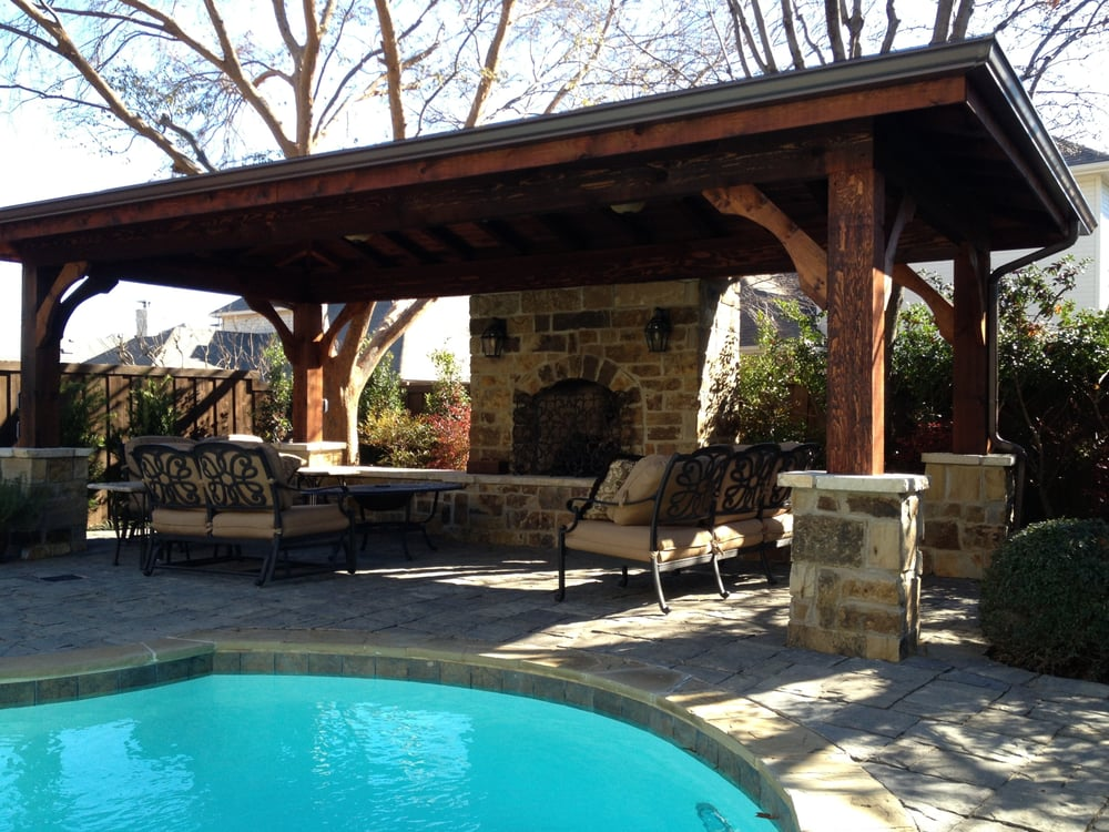 Photo Of Hardscape Concepts Coppell Tx United States Covered Structure With Natural
