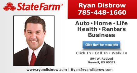 Ryan Disbrow - State Farm Insurance Agent: 504 Redbud Ave, Garnett, KS