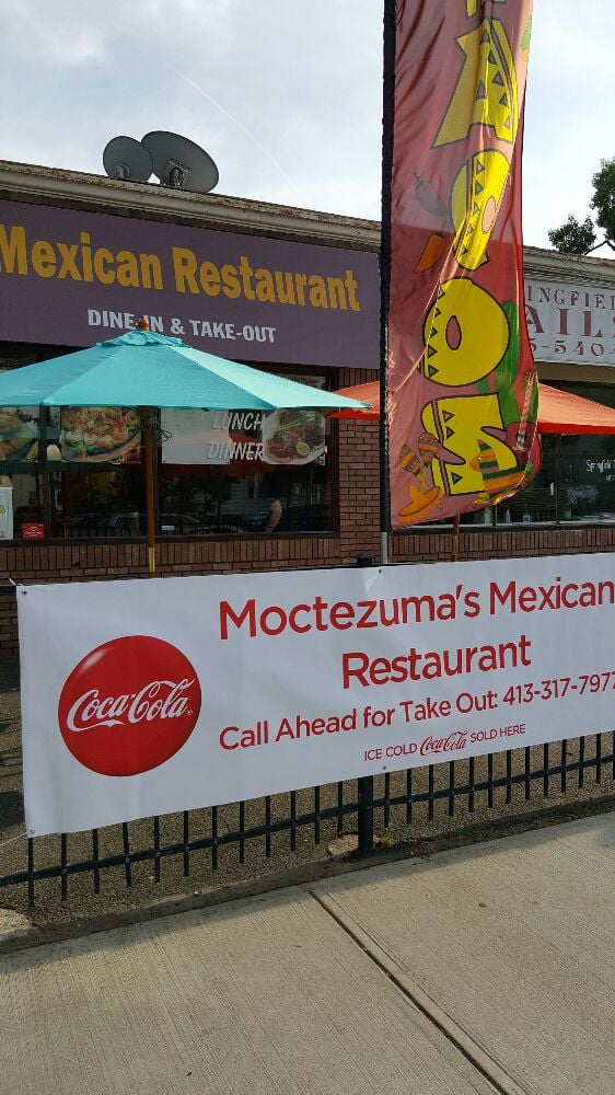 Food from Moctezuma's Mexican Restaurant