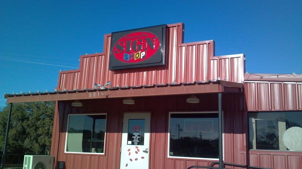 Johnson City Sign Shop: 801 US Hwy 281 S, Johnson City, TX