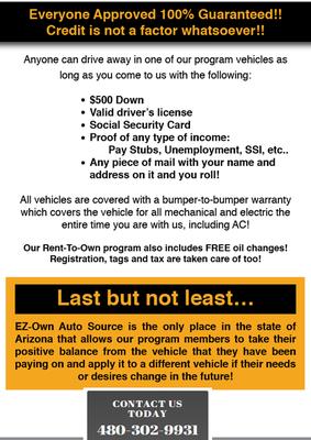 Ez Own Auto Source 530 W Main St Mesa Az Investments Mapquest