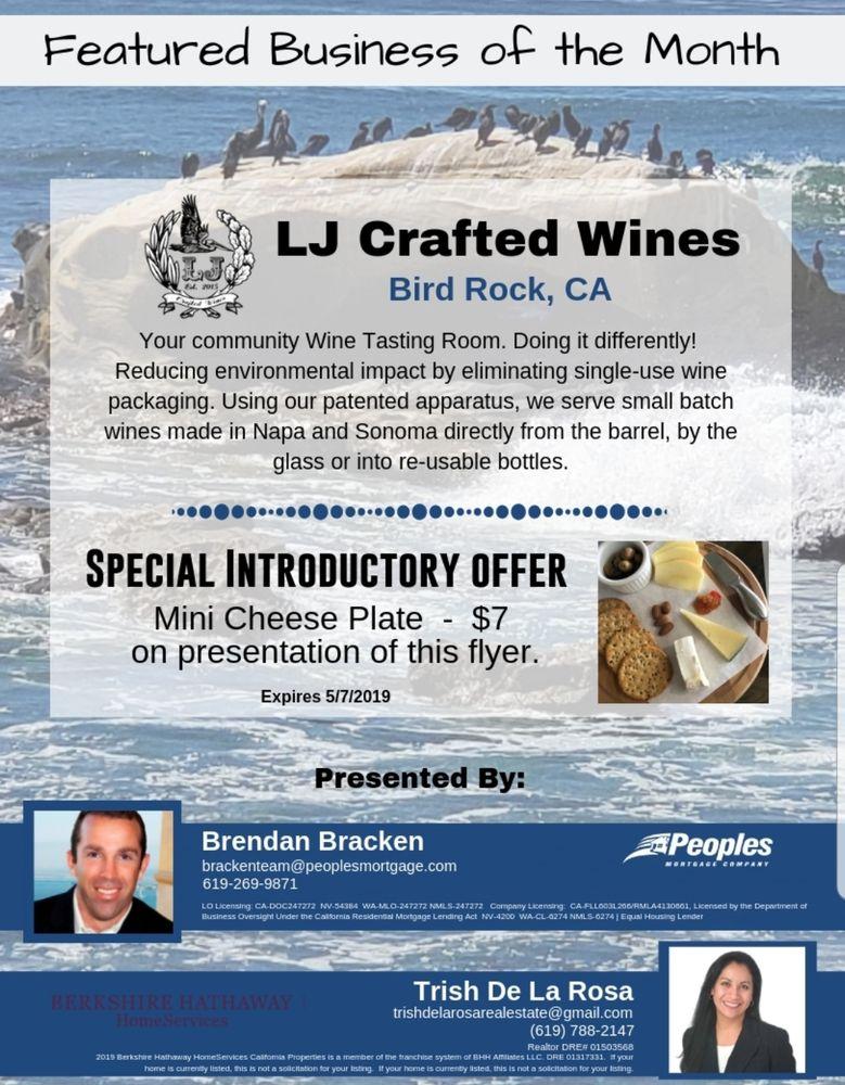 LJ Crafted Wines - Wines & Tastings