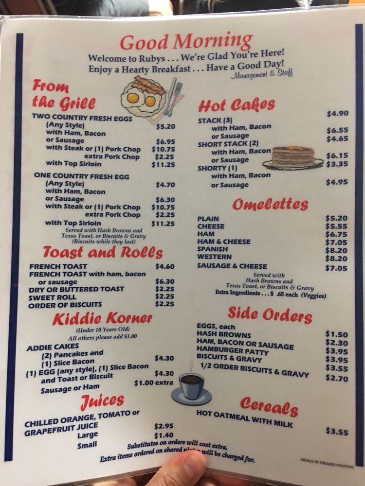 Rubys Inn & Restaurant: 2105 S Green Ave, Purcell, OK