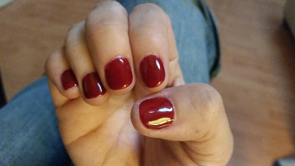 Gel manicure by Mai. Even though my nails are very short, she ...