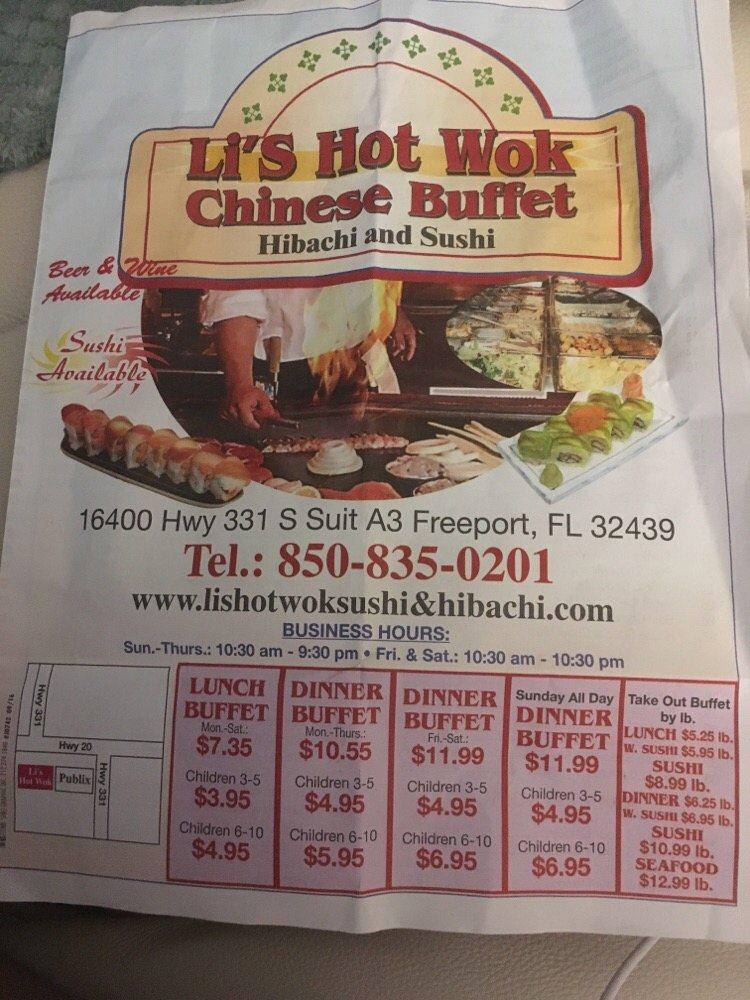 Awesome Lis Hot Wok Sushi Hibachi Sushi Bars 16400 Us 331 Home Interior And Landscaping Transignezvosmurscom