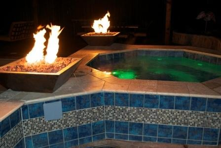 Swimming Pool Spa Waterfall Fire Bowls Yelp