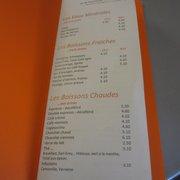 Café Branly - Paris, France. carte page 1