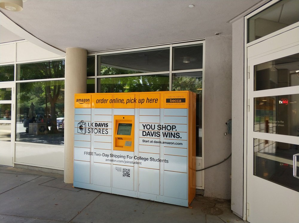 an amazon locker named becca lives outside at the mu now yelp. Black Bedroom Furniture Sets. Home Design Ideas