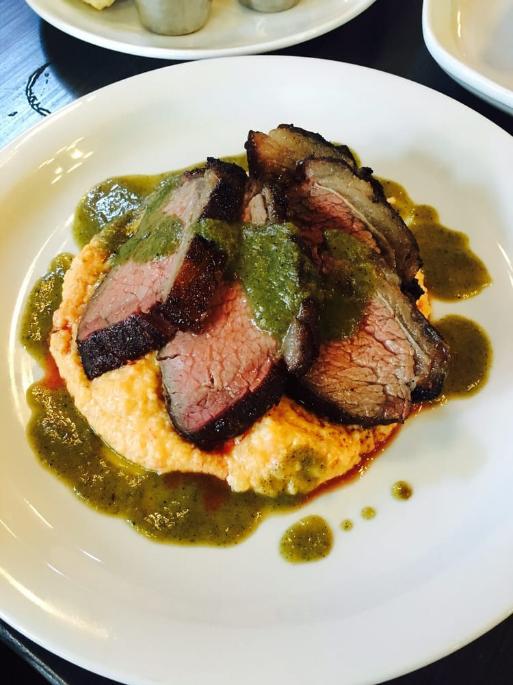 5hr smoked beef culotte atop pimento cheese grits yelp
