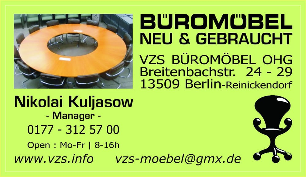 office-4-sale Büromöbel GmbH - Ansicht der 1000 qm großen ...