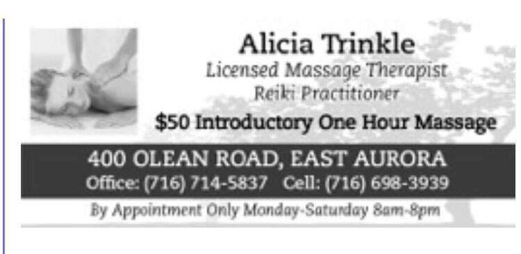 Alicia Vega, LMT: 411 Main St, East Aurora, NY
