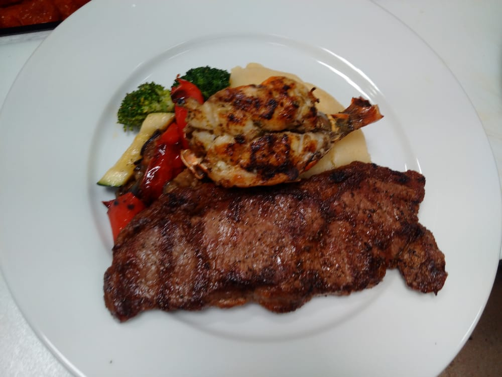 ny striploin surf and turf with lobster tail yelp. Black Bedroom Furniture Sets. Home Design Ideas