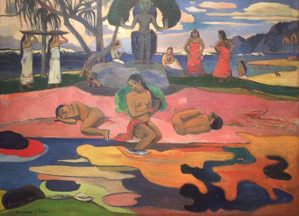 Day Of The God Mahana No Atua By Paul Gauguin French