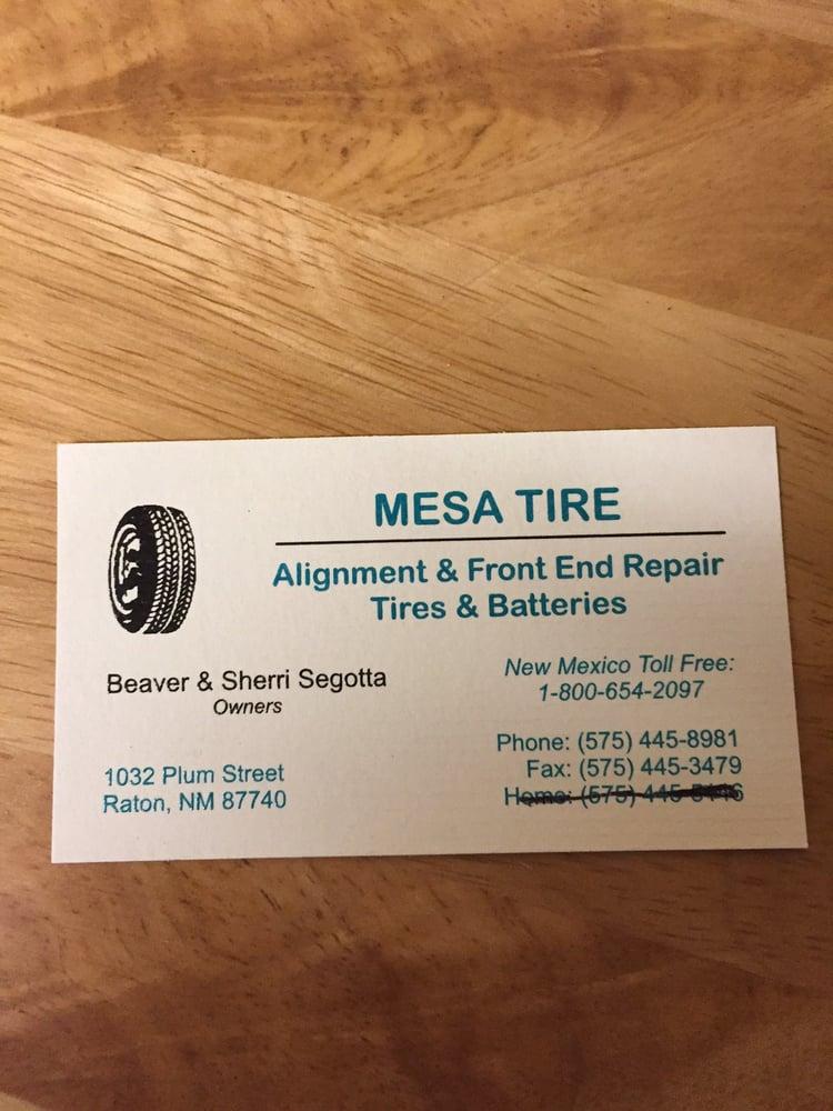 Mesa Tire: 1032 Plum St, Raton, NM
