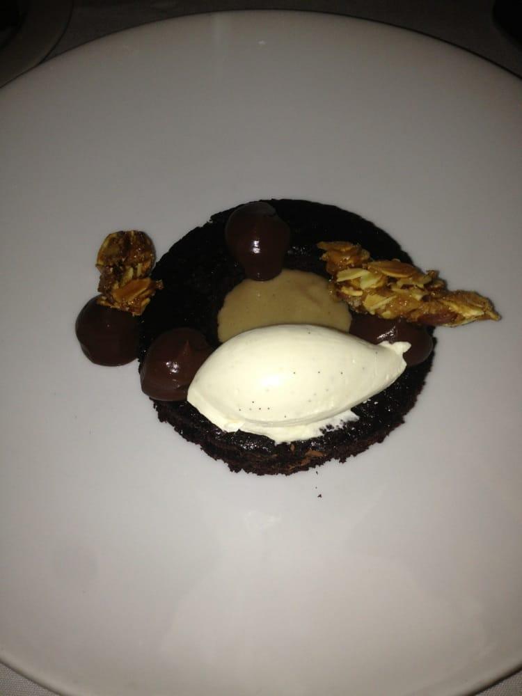 Photo of AQ Restaurant & Bar - San Francisco, CA, United States. Chocolate, dark beer, malt, devils food cake, almonds