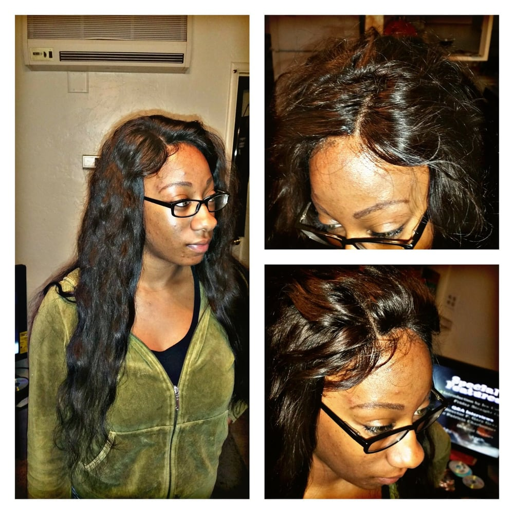 Full Sew In Weave With Lace Closure An No Natural Hair Left Out Yelp