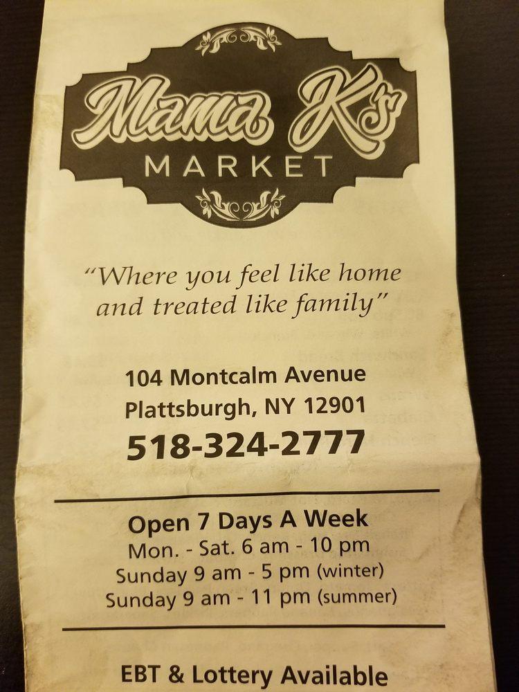 Mama K's Market: 104 Montcalm Ave, Plattsburgh, NY
