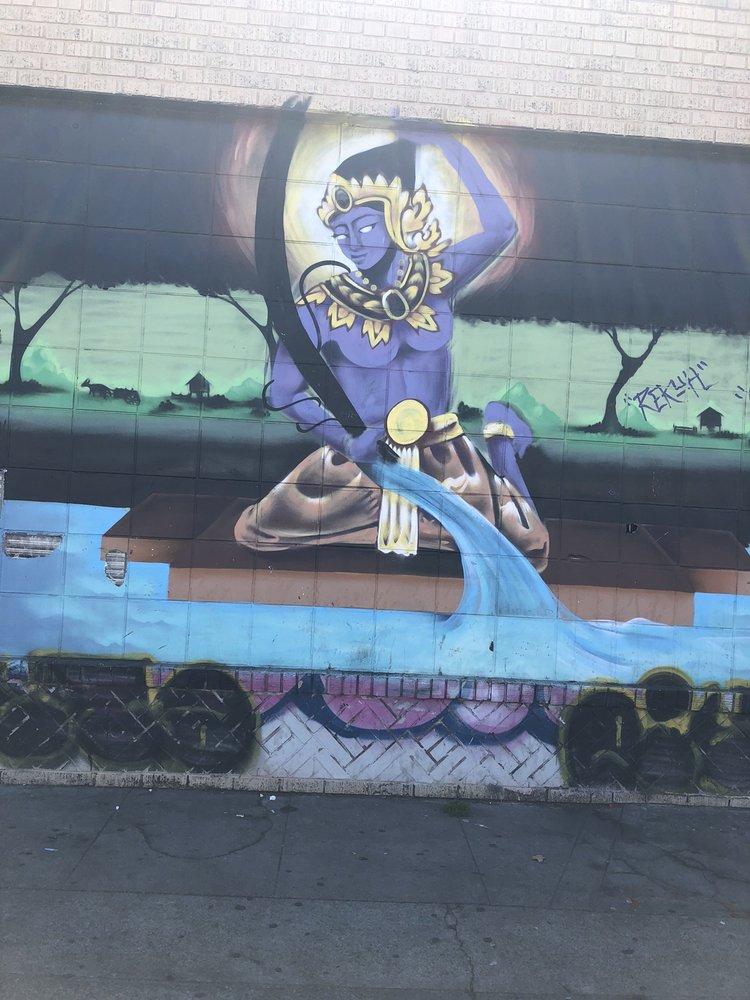Warrior Mural: 1921 International Blvd, Oakland, CA