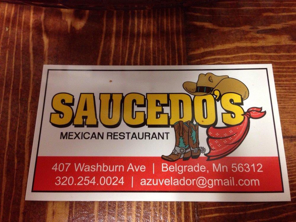 Saucedo's Mexican Restaurant: 407 Washburn Ave, Belgrade, MN