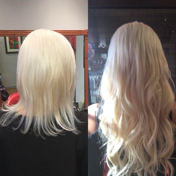 Short To Long Blonde Wavy Hair Hair Extensions By Deidre Colour