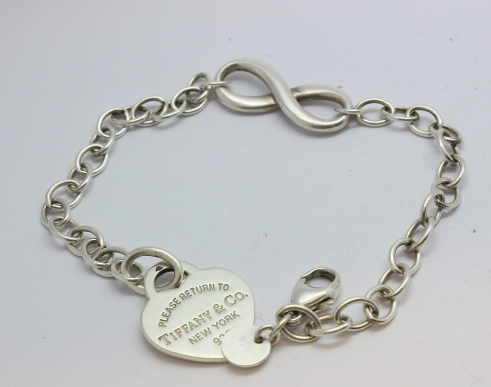 b33d0814b41 my custom made tiffany bracelet. charm was soldered on and it took ...