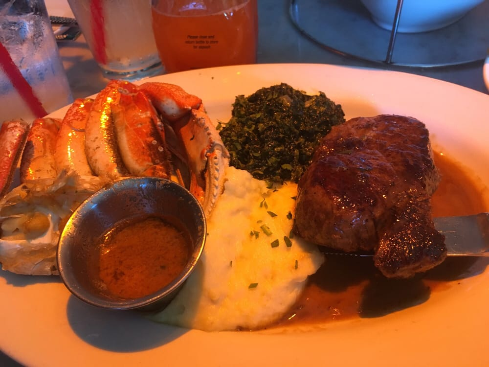 Filet and half crab note the filet is now 8oz and they for The dead fish crockett