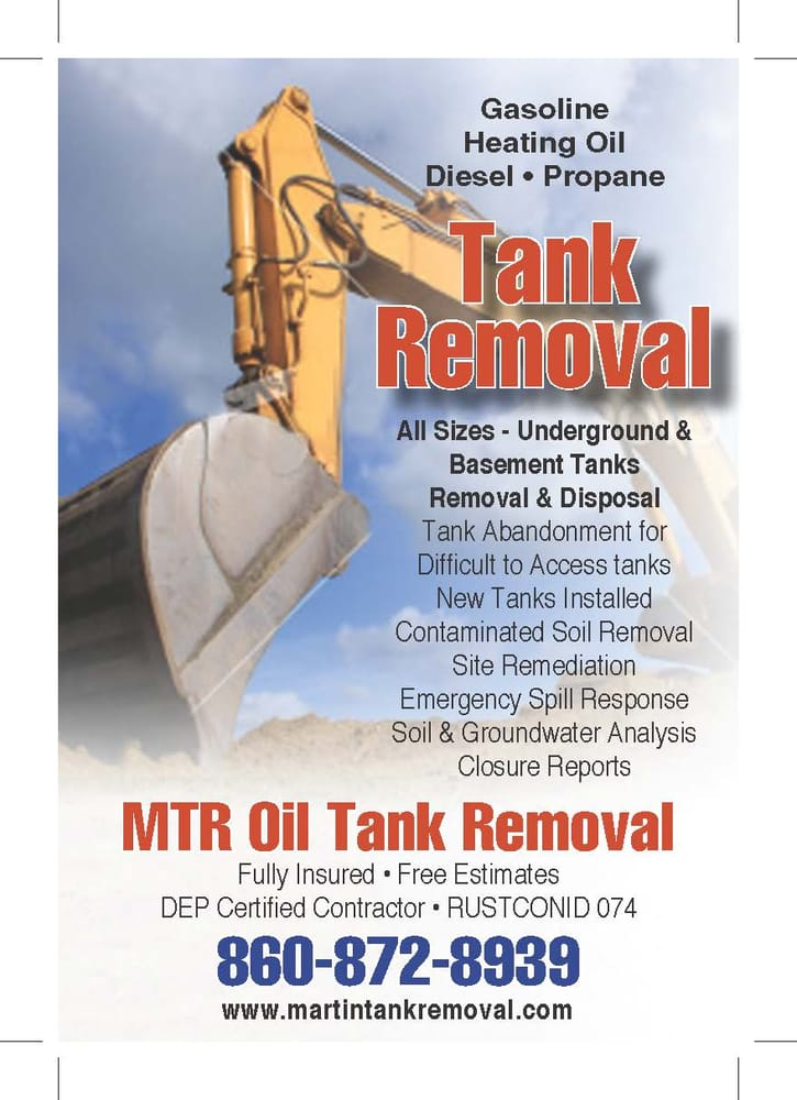 Photo Of MTR Oil Tank Removal   Tolland, CT, United States. MTR Offers