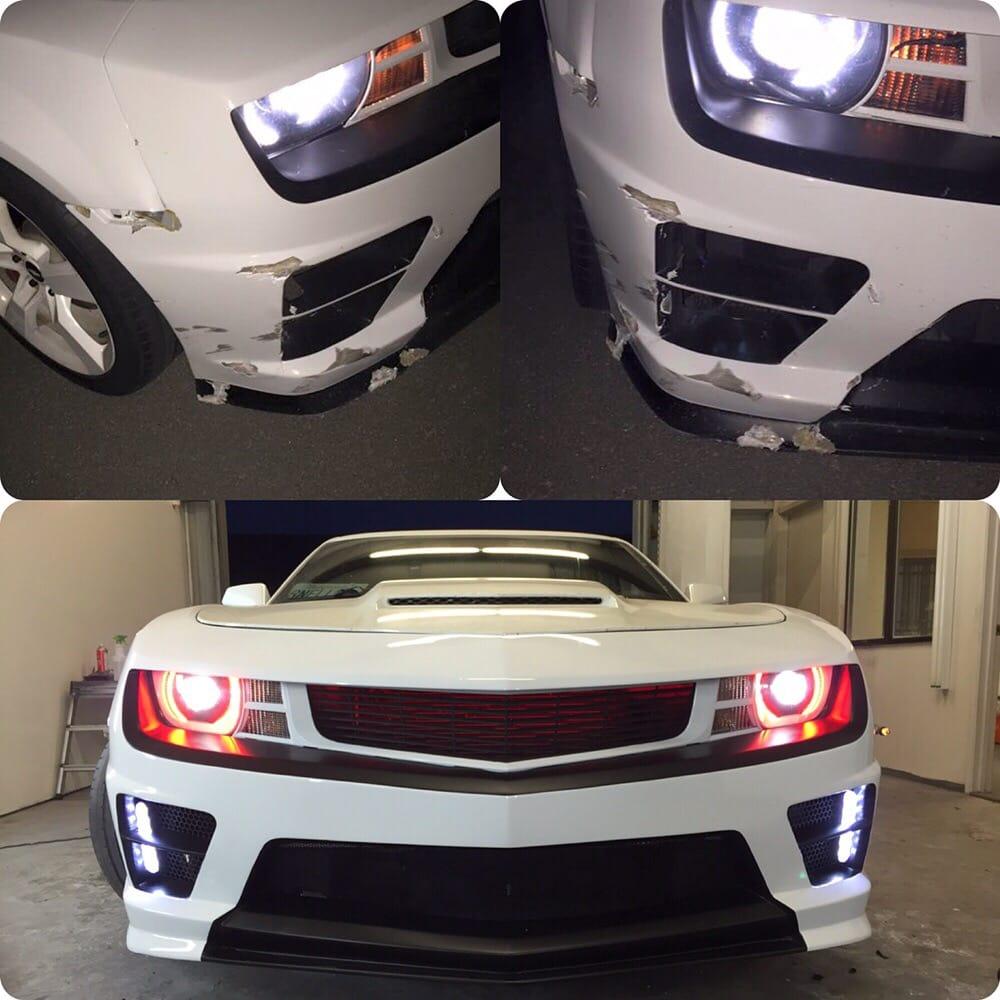 Before & After: Fiberglass repair, paint & custom lighting